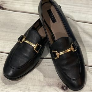 TOPSHOP CLASSY CLASSIC LOAFER... LEATHER.. SZ 39